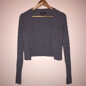 GREAT CONDITION Express gray cropped knit cardigan